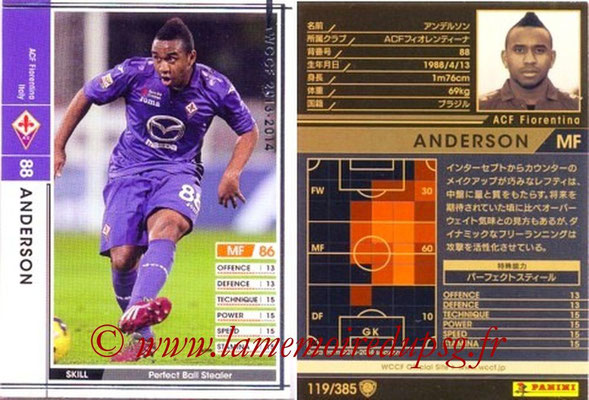 2013-14 - WCCF - N° 118 - ANDERSON (ACF Fiorentina)