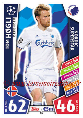 2017-18 - Topps UEFA Champions League Match Attax - N° N04 - Tom HOGLI (FC Copenhague) (Nordic Superstar)(Nordic Edition)