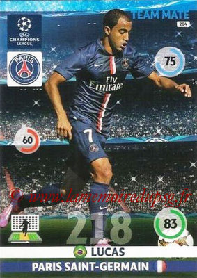 2014-15 - Adrenalyn XL champions League N° 204 - LUCAS (Paris Saint-Germain)