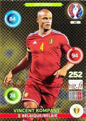 Panini Euro 2016 Cards - N° 030 - Vincent KOMPANY (Belgique)