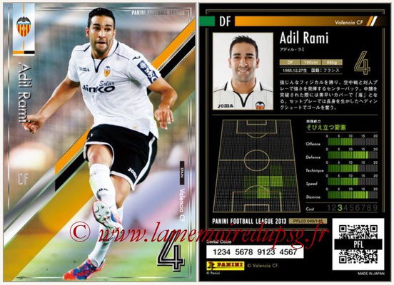 Panini Football League 2013 - PFL03 - N° 049 - Adil Rami (FC Valence)