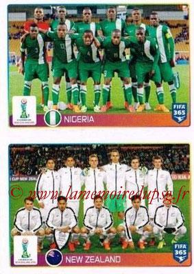 2015-16 - Panini FIFA 365 Stickers - N° 041-042 - Nigéria + Nouvelle Zélande (FIFA U20 World Cup)