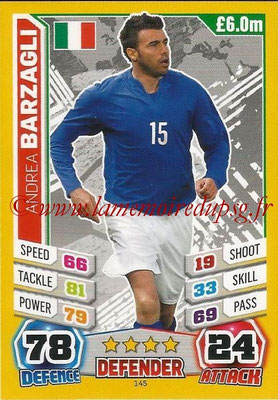 Topps Match Attax England 2014 - N° 145 - Andrea BARZAGLI (Italie)