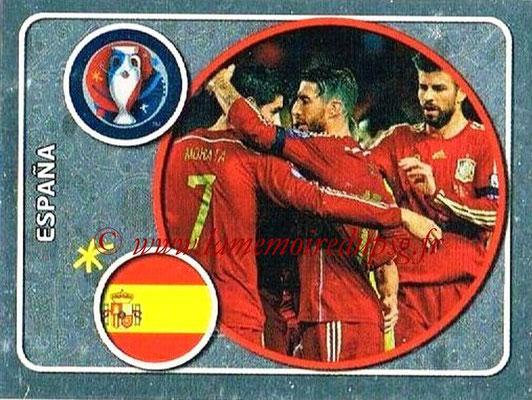 Panini Euro 2016 Stickers - N° 345 - Équipe d'Espagne