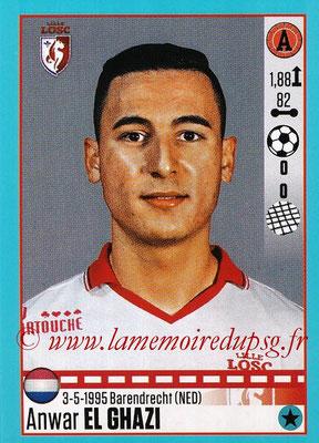 2016-17 - Panini Ligue 1 Stickers - N° T18 - Anwar EL GHAZI (Lille) (Set Transfert)