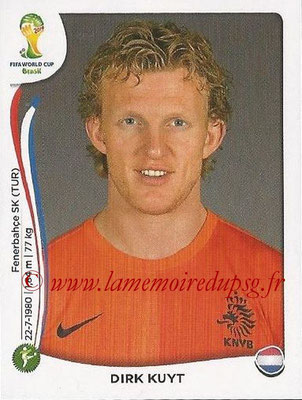 2014 - Panini FIFA World Cup Brazil Stickers - N° 142 - Dirk KUYT (Pays-Bas)
