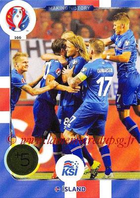 Panini Euro 2016 Cards - N° 166 - Making History d' Islande