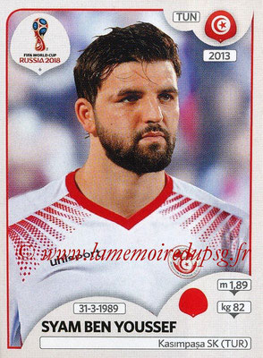 2018 - Panini FIFA World Cup Russia Stickers - N° 556 - Syam BEN YOUSSEF (Tunisie)