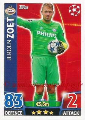 2015-16 - Topps UEFA Champions League Match Attax - N° 145 - Jeroen ZOET (PSV Eindhoven)