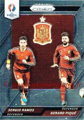 Euro 2016 Panini Prizm - N° CCD-10 - Sergio RAMOS + Gerard PIQUE (Espagne) (Country Combinaions Duals)