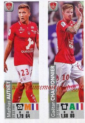 2018-19 - Panini Ligue 1 Stickers - N° 525 - Mathias AUTRET + Gaëtan CHARBONNIER (Stade Brestois 29)