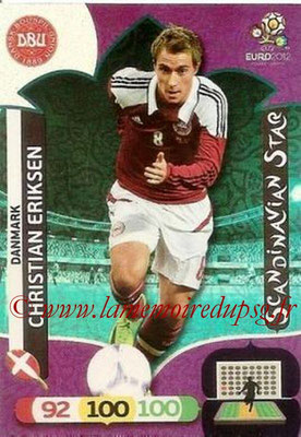 Panini Euro 2012 Cards Adrenalyn XL - N° 308 - Christian ERIKSEN (Danemark) (Scandinavian Star) (Nordic Edition)