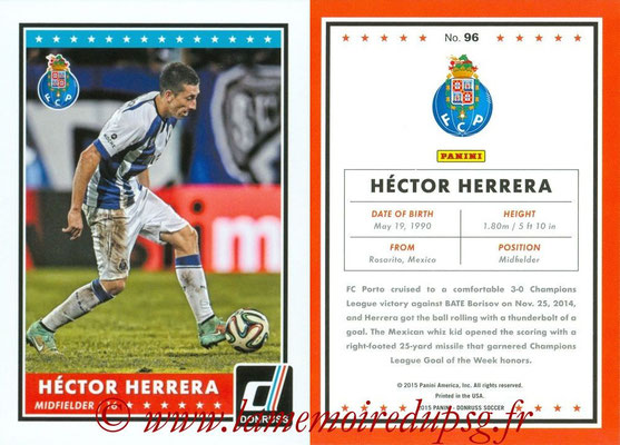 2015 - Panini Donruss Soccer - N° 096 - Héctor HERRERA (FC Porto)