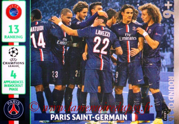 2014-15 - Adrenalyn XL champions League Update edition N° UE012 - Paris Saint-Germain (Round of 16)