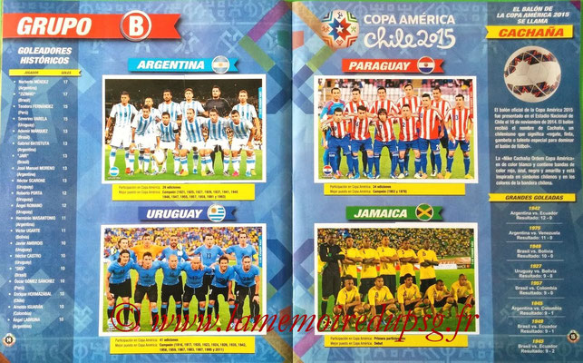 Navarette Copa America Chile 2015 Stickers - Pages 14 et 15 - Groupe B