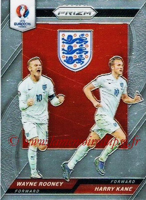 Euro 2016 Panini Prizm - N° CCD-15 - Wayne ROONEY + Harry KANE (Angleterre) (Country Combinaions Duals)