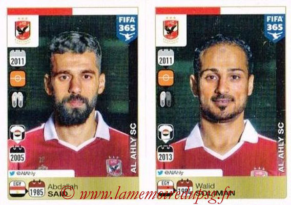 2015-16 - Panini FIFA 365 Stickers - N° 305-306 - Abdallah SAID + Walid SOLIMAN (Al Ahly SC)