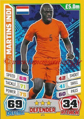 Topps Match Attax England 2014 - N° 171 - Bruno MARTINS INDI (Pays-Bas)