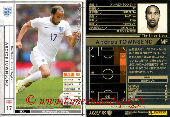 2015-16 - Panini WCCF - N° A065 - Andros TOWNSEND (Angleterre)