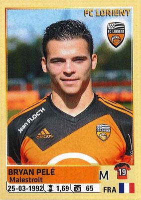 2014-15 - Panini Ligue 1 Stickers - N° 185 - Bryan PELE (FC Lorient)