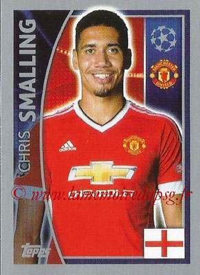 2015-16 - Topps UEFA Champions League Stickers - N° 107 - Chris SMALLING (Manchester United FC)