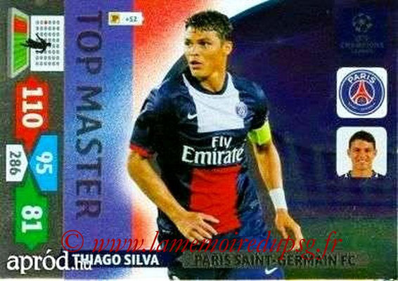2013-14 - Adrenalyn XL champions League N° 359 - Thiago SILVA (Paris Saint-Germain) (Top Master)