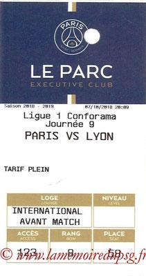 Tickets  PSG-Lyon  2018-19