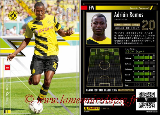 Panini Football League 2015 - PFL10 - N° 075 - Adrian RAMOS (Borussia Dortmund) (Star)