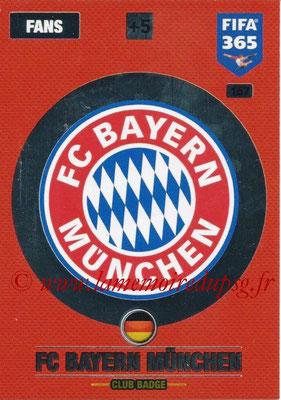 2016-17 - Panini Adrenalyn XL FIFA 365 - N° 167 - Logo FC Bayern Munich