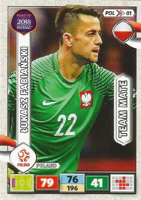 2018 - Panini Road to FIFA World Cup Russia Adrenalyn XL - N° POL01 - Lukasz FABIANSKI (Pologne)