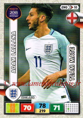 2018 - Panini Road to FIFA World Cup Russia Adrenalyn XL - N° ENG10 - Adam LALLANA (Angleterre)