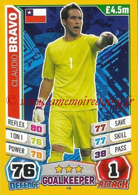 Topps Match Attax England 2014 - N° 048 - Claudio BRAVO (Chili)