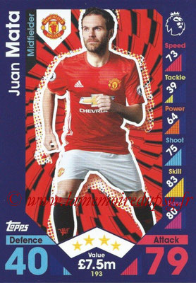 2016-17 - Topps Match Attax Premier League - N° 193