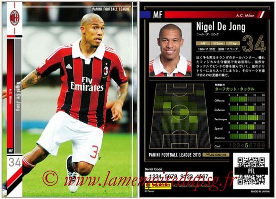 Panini Football League 2013 - PFL02 - N° 006 - Niguel De Jong ( A.C. Milan )