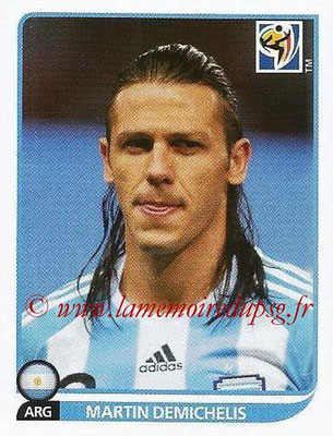 2010 - Panini FIFA World Cup South Africa Stickers - N° 109 - Martin DEMICHELIS (Argentine)