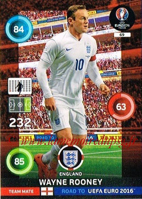 Panini Road to Euro 2016 Cards - N° 069 - Wayne ROONEY (Angleterre)