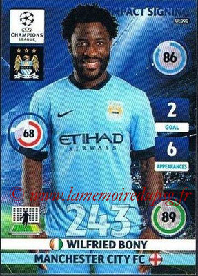 2014-15 - Adrenalyn XL champions League Update edition N° UE090 - Wilfried BONY (Manchester City) (Impact Signing)