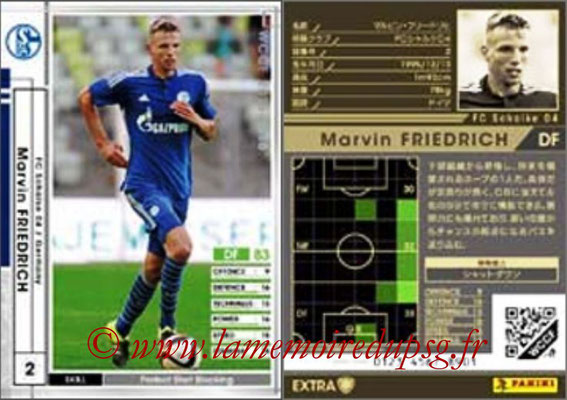 2015-16 - Panini WCCF - N° EXT22 - Marvin FRIEDRICH (FC Schalke 04) (Extra)