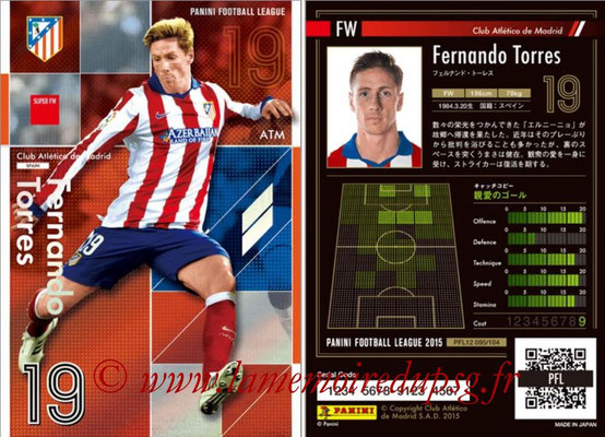 Panini Football League 2015 - PFL12 - N° 095 - Fernando TORRES (Atletico Madrid) (Super FW)