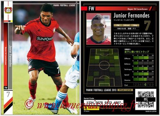 Panini Football League 2013 - PFL02 - N° 112 - Junior Fernandes ( Bayer 04 Leverkusen )