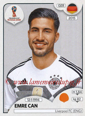 2018 - Panini FIFA World Cup Russia Stickers - N° 442 - Emre CAN (Allemagne)