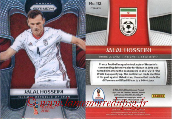 2018 - Panini Prizm FIFA World Cup Russia - N° 112 - Jalal HOSSEINI (Iran)