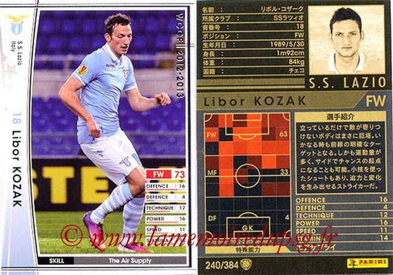 2012-13 - WCCF - N° 240 - Libor KOZAK (SS Lazio)