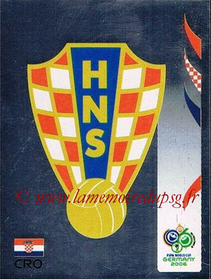2006 - Panini FIFA World Cup Germany Stickers - N° 398 - Logo Croatie