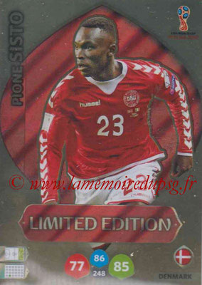 2018 - Panini FIFA World Cup Russia Adrenalyn XL - N° LE-PS - Pione SISTO (Danemark) (Limited Edition)
