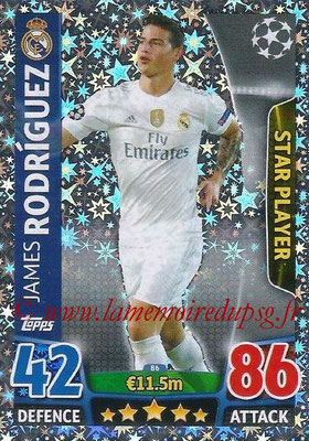 2015-16 - Topps UEFA Champions League Match Attax - N° 086 - James RODRIGUEZ (Real Madrid CF) (Star Payer)