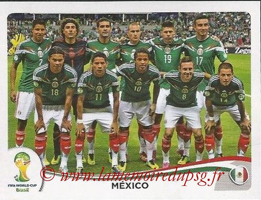 2014 - Panini FIFA World Cup Brazil Stickers - N° 071 - Equipe Mexique
