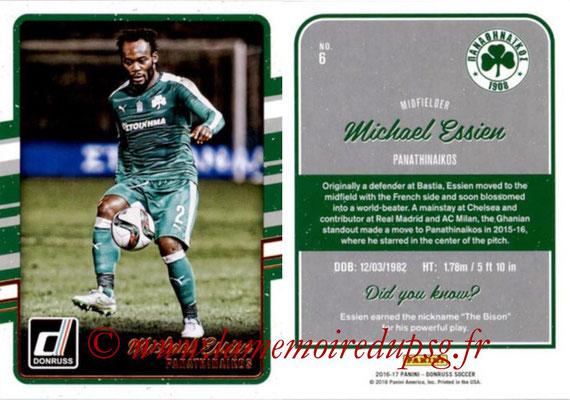 2016 - Panini Donruss Cards - N° 006 - Michael ESSIEN (Panathinaikos)