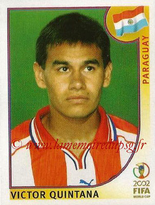 2002 - Panini FIFA World Cup Stickers - N° 145 - Victor QUINTANA (Paraguay)