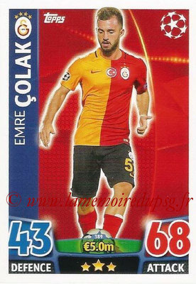 2015-16 - Topps UEFA Champions League Match Attax - N° 389 - Emre COLAK (Galatasaray AS)